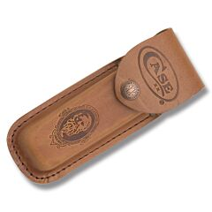 """Case Job Case Portrait Leather Sheath fits Pocketknives up to 5.50"""" Closed"""