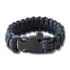 """Combat Ready 9"""" Black Survival Bracelets"""