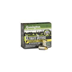 Remington Ultimate Defense Compact Handgun 40 S&W 180 Grain Jacketed Hollow Point 20 Rounds
