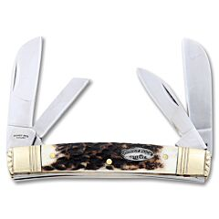 Chimney Rock Cutlery Genuine Stag Large Congress 440 Stainless Steel Blades
