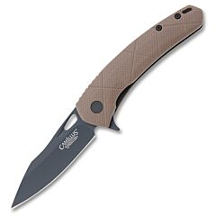 Camillus Blaze Linerlock D2 Steel Blade Brown G-10 Handle