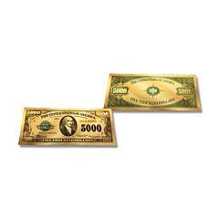 24K Gold $5,000 Certificate Foil Bill