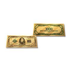 24K Gold $1,000 Certificate Foil Bill