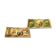 24K Gold Indiana $1 Foil Bill