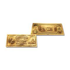 24K Gold Massachusetts $1,000 Foil Bill