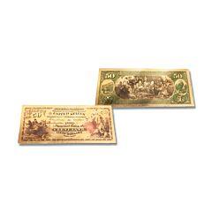 24K Gold Ohio $50 Foil Bill