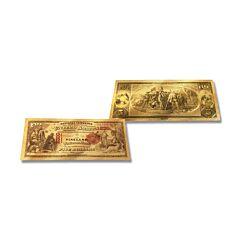 24K Gold New Jersey $5 Foil Bill
