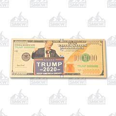 24K Gold Foil Presidential Portrait Trump $1,000,000 Bill