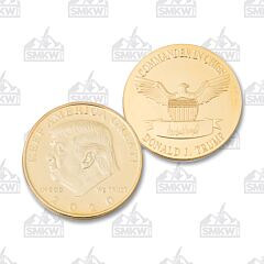 Gold Plated Keep America Great Trump Challenge Coin