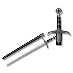 Master Cutlery Robin of Locksley's Sword with Cast Metal Handles and Stainless Steel Plain Edge Blades Model HK-5517