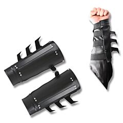 Master Cutlery Spiked Arm Cuffs Black