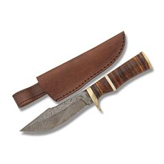 Sahara Fighter Damascus Fixed Blade