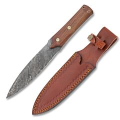 Rite Edge Indian Dag Knife Damascus Steel Blade Wood Handle