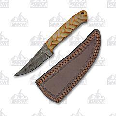 Hunter Damascus Fixed Blade