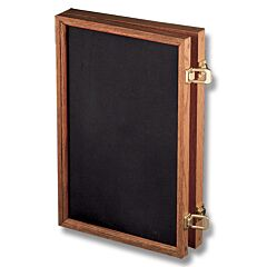 "Solid Oak Display Case with Black Velvet Inserts (18"" x 12"" x 2"")"