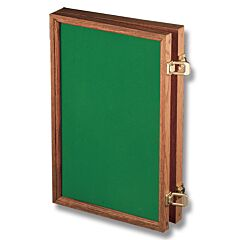 "Solid Oak Display Case with Forest Green Velvet Inserts (18"" x 12"" x 2"")"