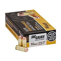 Sig Sauer Elite Performance 10mm 180 Grain Full Metal Jacket 50 Rounds