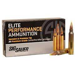 Sig Sauer Elite Performance 223 Remington 40 Grain Tipped Hollow Point 20 Rounds