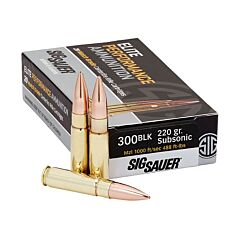 Sig Sauer Elite Performance 300 AAC Blackout Subsonic 220 Grain Open Tip Match 20 Rounds