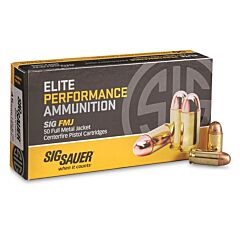 Sig Sauer Elite Performance 45 ACP 230 Grain Full Metal Jacket 50 Rounds