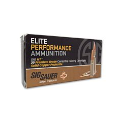 Sig Sauer Elite Performance Hunting HT 6.5 Creedmoor 120 Grain Hollow Point 20 Rounds