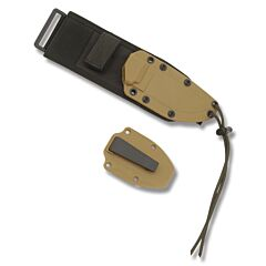 ESEE Knives ESEE-4 Coyote Brown Molded Sheath with Clip Plate and MOLLE Back Model ESEE-21SS