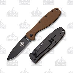 ESEE Zancudo Black Blade Coyote Brown Nylon and Black Stainless Handles