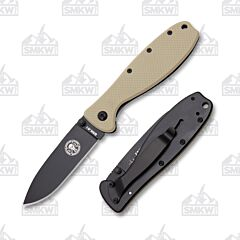 ESEE Zancudo Black Blade Desert Tan and Black Stainless Handles