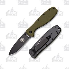 ESEE Zancudo Black Blade Olive Drab Nylon and Black Stainless Handles