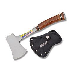 Estwing Sportsman Axe Stainless Steel Axe Head Leather Wrapped Handle