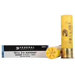 """Federal Power-Shok 20 Gage 3"""" Length 18 Pellets 5 Rounds"""