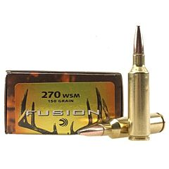 Federal Fusion 270 WSM 150 Grain Bonded Round Nose  20 Rounds