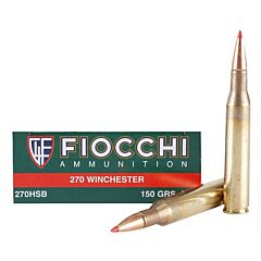 Fiocchi Extrema 270 Winchester 150 Grain Hornady SST Polymer Tip  20 Rounds