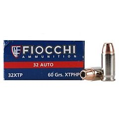 Fiocchi Extrema 32 ACP 60 Grain Hornady XTP Jacketed Hollow Point 50 Rounds