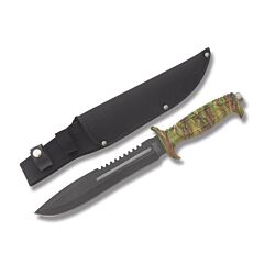 Frost Cutlery Jungle Fever IV Stainless Steel Blade Camo ABS Plastic Handle