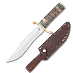 Frost Cutlery Chipaway Cutlery Clip Point Hunter Stainless Steel Blade Carved Bone Handle