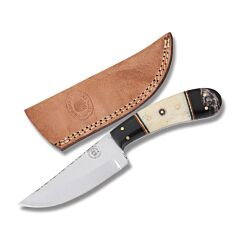Frost Cutlery Chipaway Cutlery Red Cloud Hunter Stainless Steel Blade Buffalo Horn/Smooth Bone Handle