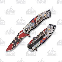 Frost Cutlery Confederate Flag Civil War Assisted Opening Linerlock