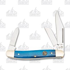 Frost Cutlery Trophy Stag Blue Smooth Bone Stockman