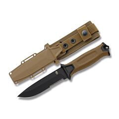 Gerber Coyote Brown StrongArm Partially Serrated