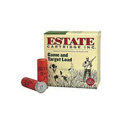 """Federal Estate Game & Target 20 Gauge 2.75"""" 7/8 oz #6 Lead Shot 25 Rounds"""
