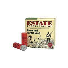 """Federal Estate Game & Target 20 Gauge 2.75"""" 7/8oz #8 Lead Shot 25 Rounds"""