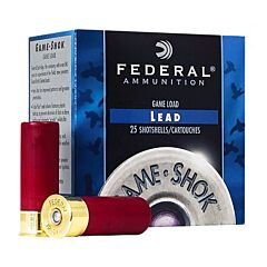 Federal Game Shok 16 Gauge 2.75 1 oz #7.5 Lead Shot 25 Rounds