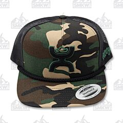 Hooey Camo Black Trucker Hat