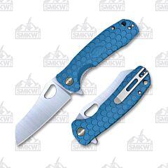 Honey Badger Wharncleaver Small Blue Flipper Linerlock
