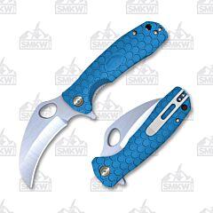 Honey Badger Claw Medium Blue Flipper Linerlock