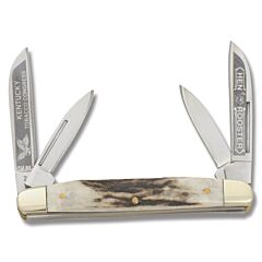 Hen and  Rooster Stag Kentucky Tobacco Congress Stainless Steel Blades