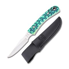 """Hen and Rooster Caping Knife with Antique Green Jigged Bone Handle and Stainless Steel 2.375"""" Caping Plain Edge Blade Model HR-5025AGB"""