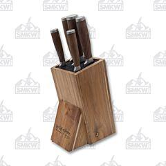 Hen & Rooster Walnut Handle 6 Piece Block Set