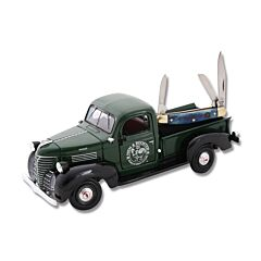 """Hen and Rooster 1941 Plymouth Pick Up Truck and Mini Stockman 2.75"""" with Blue Smooth Bone Handles and Stainless Steel Plain Edge Blades Model HR-PU303RPB"""